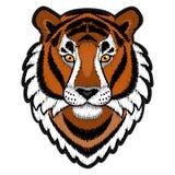 Stickerei Tiger Head Patch vektor abbildung