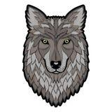 Stickerei Wolf Head Patch stock abbildung