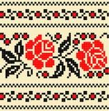 Stickereikreuz stich Musterblume vektor abbildung