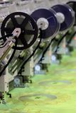 Stickereimaschine Stockbild