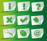 Stickerpictogram Royalty-vrije Stock Afbeeldingen