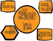 Stickers Stock Foto's