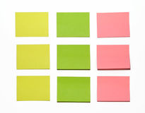 Stickers. Red, yellow and green Stock Photo