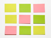 Stickers. Red, yellow and green Royalty Free Stock Images