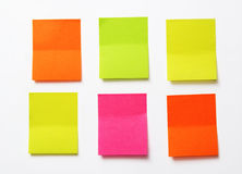 Stickers. Color stickers on white board Royalty Free Stock Photo