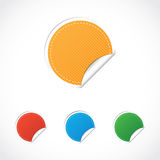 Stickers. Empty color stickers, isolated objects Stock Image