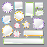 Stickers. Vector set of turned up stickers Stock Photos