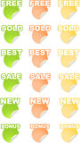 Stickers Stock Photography
