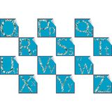 Stickers alphabet O-Z Stock Photography