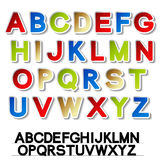Stickers of alphabet - own font Royalty Free Stock Photo