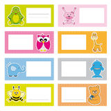 Stickers Animals Royalty Free Stock Image