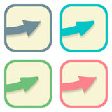Stickers with arrows set. Vector illustration Royalty Free Stock Photo