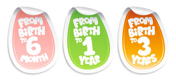 Stickers for baby goods. Royalty Free Stock Photo