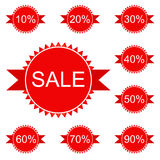 Stickers and badges for sale Royalty Free Stock Photo