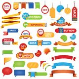 Stickers and banners2 Stock Images