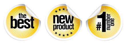 Stickers for best new products Royalty Free Stock Images