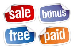 Stickers for best sales Royalty Free Stock Image