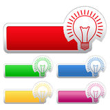Stickers with Bulb Royalty Free Stock Image