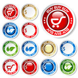Stickers - buy, natural, hot price, best price Royalty Free Stock Images