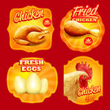 Stickers chiken Royalty Free Stock Photos