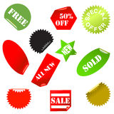 stickers collection Royalty Free Stock Photo
