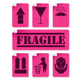 Stickers collection with glue marks and corner Royalty Free Stock Photography