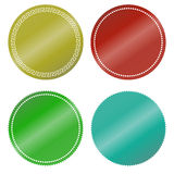 Stickers color blank Stock Photography