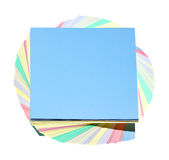 Stickers of colors. Isolated on a white background royalty free stock images