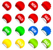 stickers with corners Stock Photography