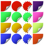 Stickers with corners Royalty Free Stock Image