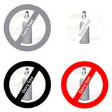Stickers for dairy free products Stock Photography