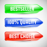 Stickers. De markeringsmalplaatje van de verkoop Royalty-vrije Stock Foto