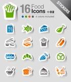 Stickers - de Pictogrammen van het Voedsel Stock Afbeelding