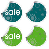 Stickers with decorational elements Stock Photo