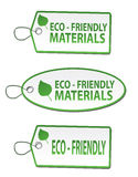 Stickers - eco friendly material. On a white background Royalty Free Stock Photography
