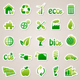 Stickers about ecology concept. Stock Images