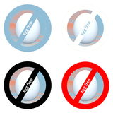 Stickers for egg free products Stock Image