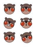 stickers Emotioneel draag met blozen royalty-vrije illustratie