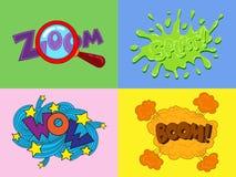 Stickers en toespraakbel Stock Foto's