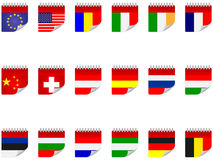 Stickers with flags Stock Photography