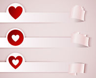 Stickers, flyers with red heart Royalty Free Stock Image