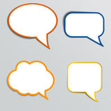 Stickers in form of speech bubbles Stock Photos