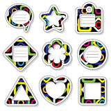 Stickers and frames with the same pattern. Stock Image