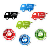 Stickers of free delivery Stock Image