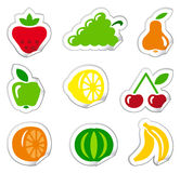 Stickers of fruit Royalty Free Stock Photo