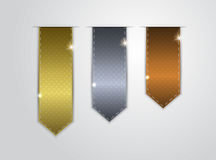 Stickers. Gold, silver and bronze stickers Stock Image