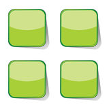 Stickers green vector illustration Stock Photo