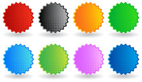 Stickers Halftone Royalty Free Stock Photography
