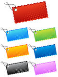 Stickers halftone vector Royalty Free Stock Photos