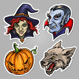 Stickers for Halloween Stock Image